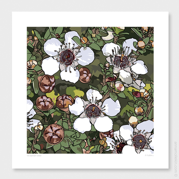 The Magnificent Manuka​​ Wall Art Print by Anna Mollekin