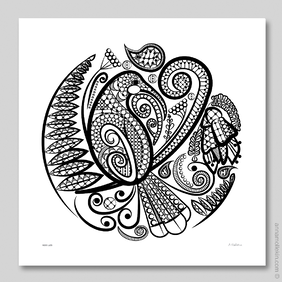 Huia's Lace Wall Art Print