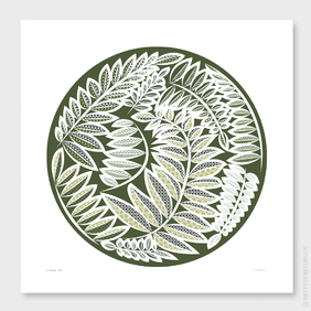 Botanical Lace Wall Art Print by Anna Mollekin