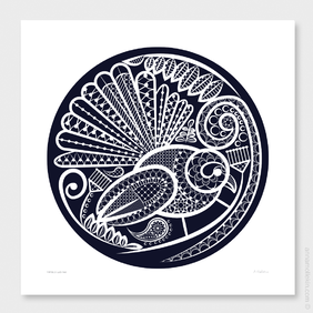 Fantail's Lace Two Wall Art Print by Anna Mollekin