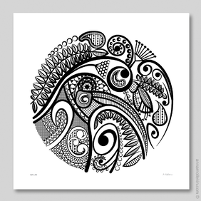 Kiwi's Lace Wall Art Print by Anna Mollekin