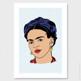 Frida Knows Best Wall Art Print by Anna Mollekin - Frida Kahlo Art