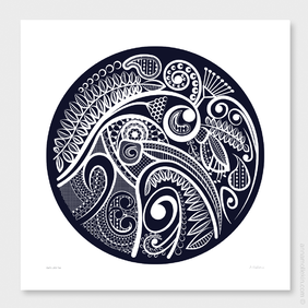 Kiwi's Lace Two Wall Art Print by Anna Mollekin
