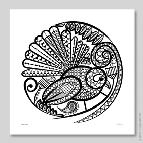 Fantail's Lace Wall Art Print by Anna Mollekin