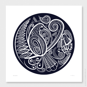 Huia's Lace Two Wall Art Print by Anna Mollekin