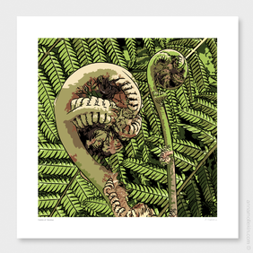 Fronds of Freedom Wall Art Print by Anna Mollekin